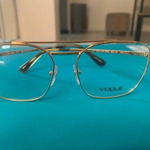 Vogue Eyewear Gold Women Eye Glasses